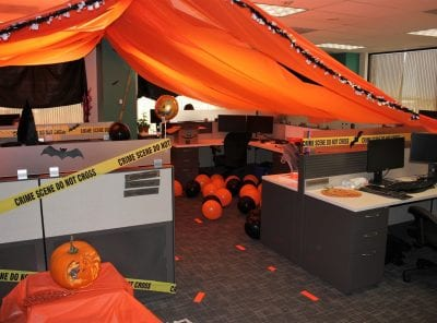The Product Management department embraced the orange and black with their classic Halloween decorations.