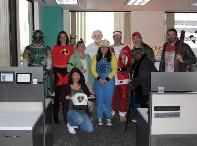 Members of the dataflow and support departments came straight from Hollywood with their movie-themed decorations and costumes.